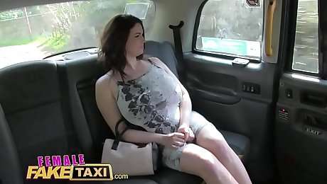 Female Fake Taxi Horny tarts use cucumber to stretch their wet pussies