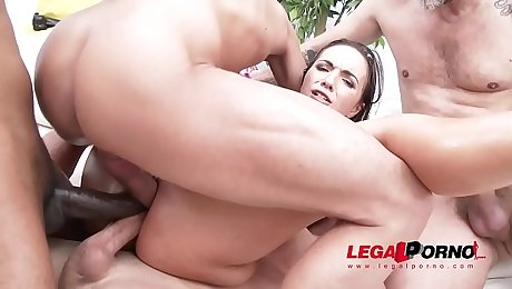 Young Slut Kristy Black's First Triple Anal Scene